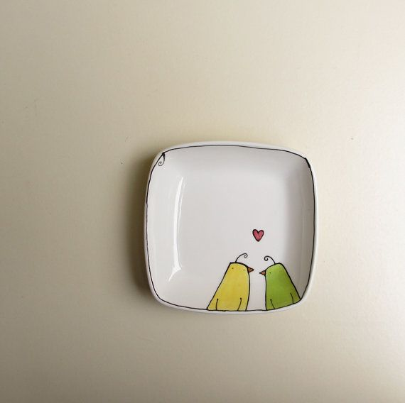 Lovebirds dish? With Sharpies and baked at 375 I think so!