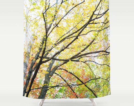 Check out Autumn Shower, Fall Shower Curtain, Fall Leaves, Fall Bathroom Decor, Autumn Bathroom, Tree Shower Curtain, Nature Bathroom, Orange Leaves on mayaredphotography
