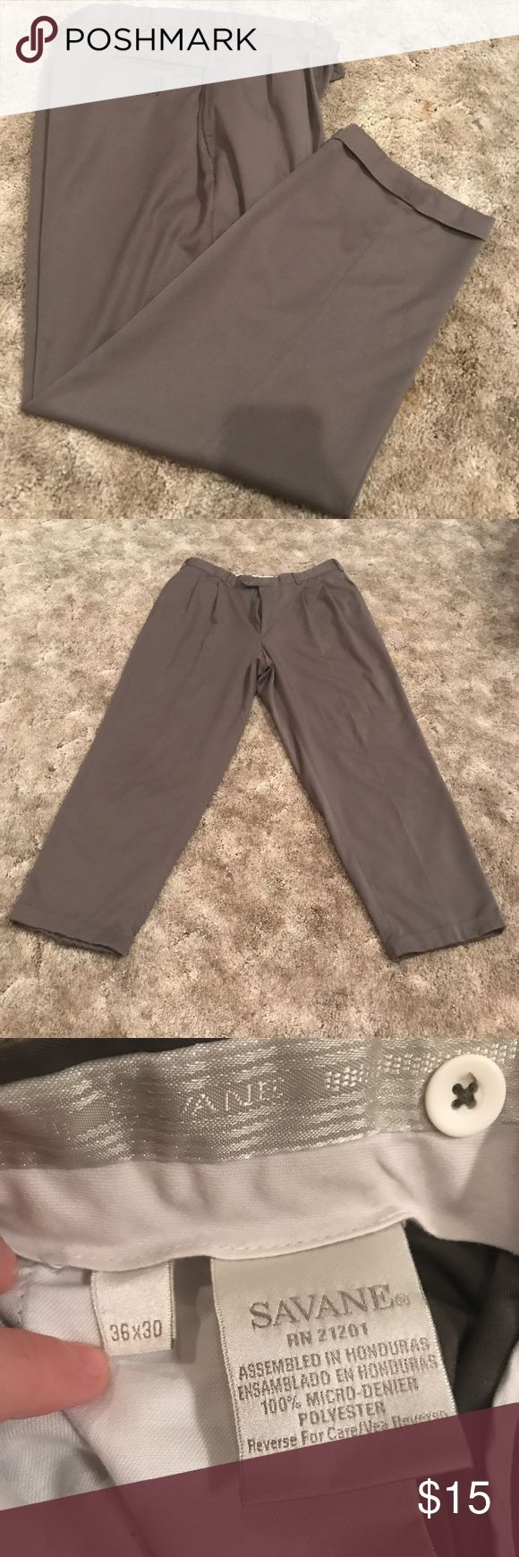 Savane dress pants Gently used! Color: Olive drab Size: 36 x 30 Savane Pants Dress