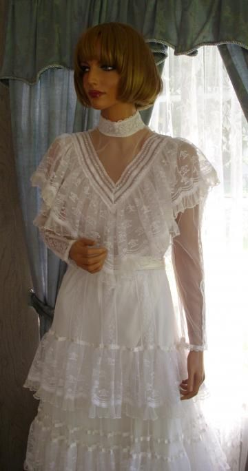 copy of my wedding dress I wore in 1984 Gunny Sack