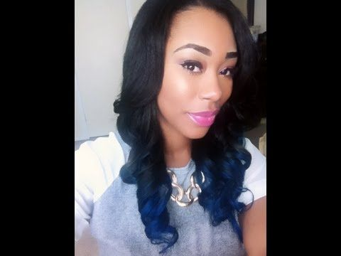 How to Ombre/Dye your Hair Blue: Rosa Hair Products - ChimereNicole - YouTube