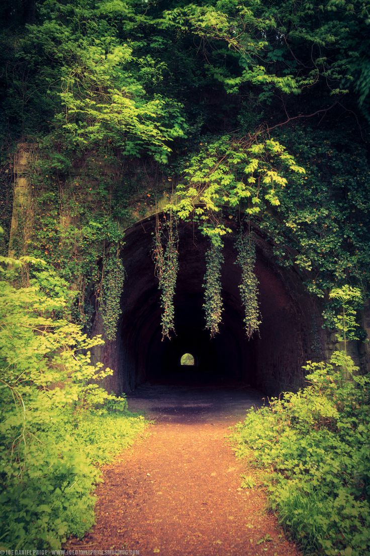 Old disused railway tunnel in Usk, Monmouthshire, Wales.