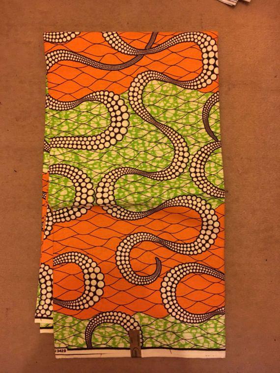 Afrikanische Stoffe Sind Bunte Bedruckte Stoffe Verwendet Um