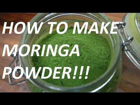 Benefits and How to Dry and Make Moringa Powder -Very easy! - YouTube