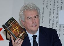 Ken Follett with his book Eisfieber (English: Whiteout) in October 2005  -  Wikipedia, the free encyclopedia