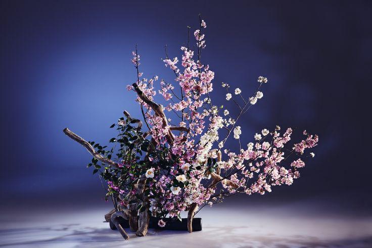 Arranged by Naoka Shima Sogetsu school of ikebana