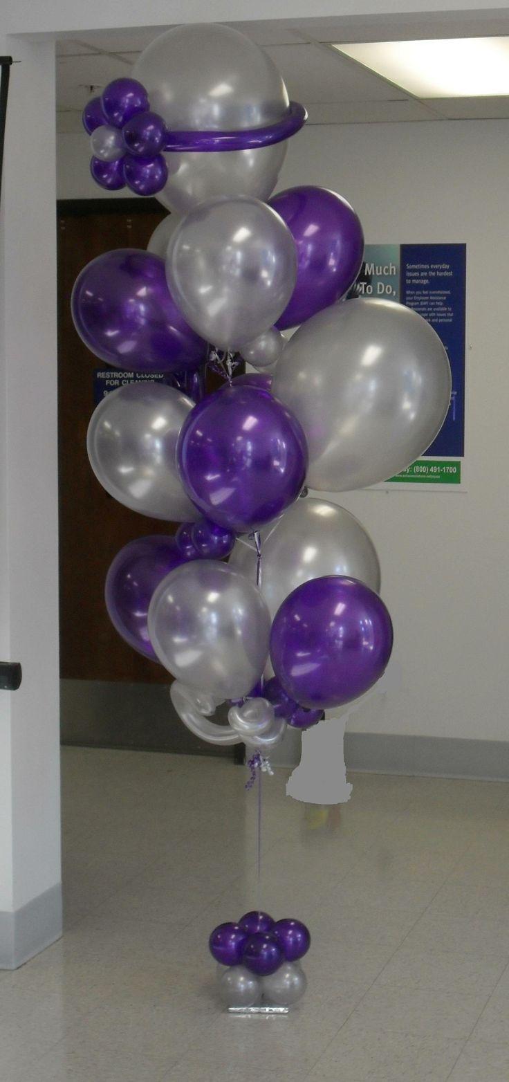 The 25 best balloon bouquet ideas on pinterest ideen for Balloon arrangement ideas
