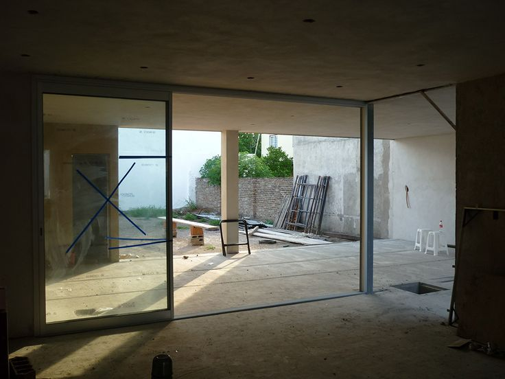 Colocación de #aberturas de aluminio #EnObra #InProgress #proyectarq #arquitectura