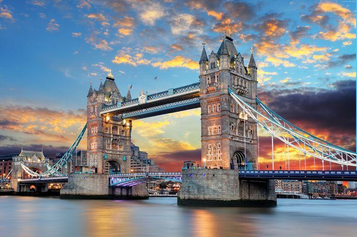 Most, Tower Bridge, Tamiza, Londyn