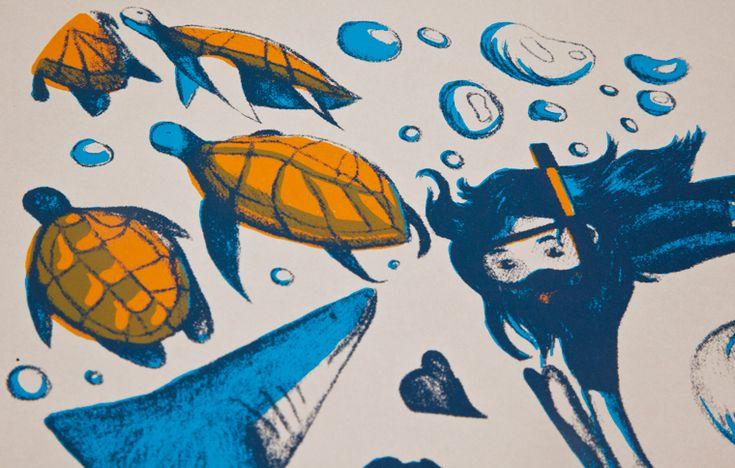 Aquatique – Sérigraphie | Caroline Chauveau