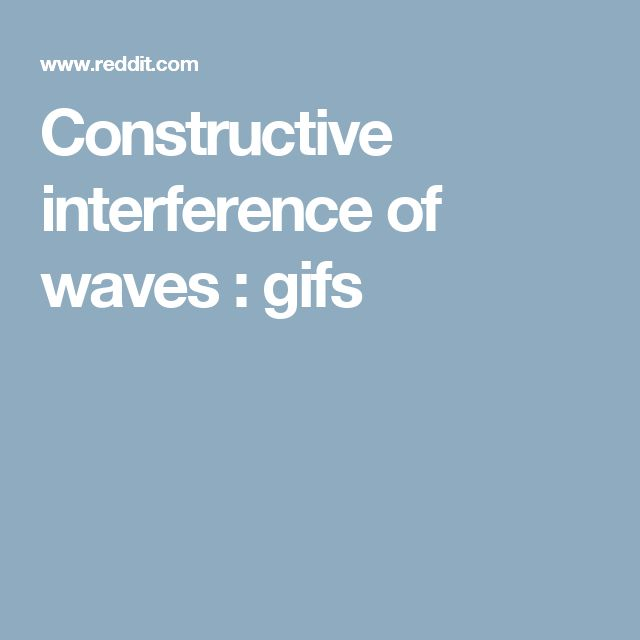 Constructive interference of waves : gifs