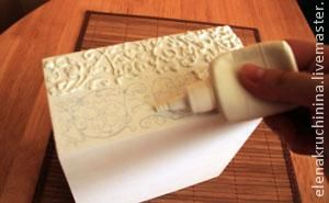 Создание объемных орнаментов/узоров с помощью шпатлевки - Ярмарка Мастеров - ручная работа, handmade