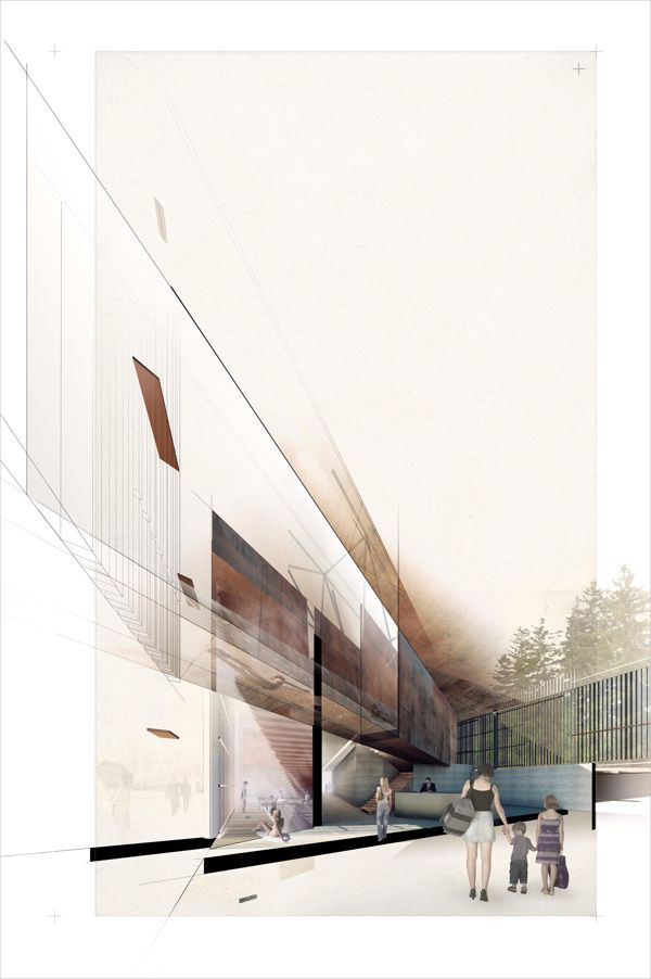 Wellness Center by Pavlo Kryvozub, via Behance