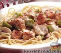 Фото к рецепту: Спагетти с курицей