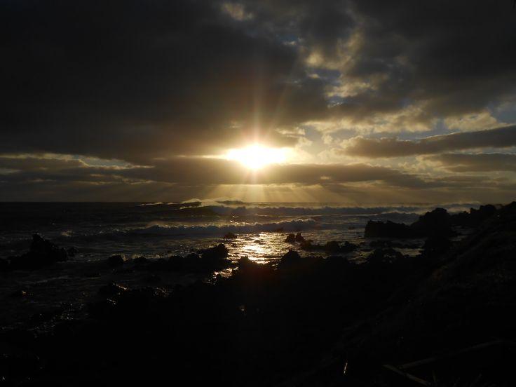 Sunset over Rapa Nui.