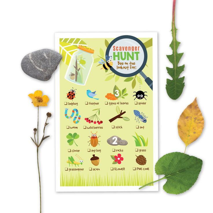 Nature Scavenger Hunt Game - Kid's Party Game - nature bugs - Instant Download by crazyfoxpaper on Etsy https://www.etsy.com/listing/245379998/nature-scavenger-hunt-game-kids-party