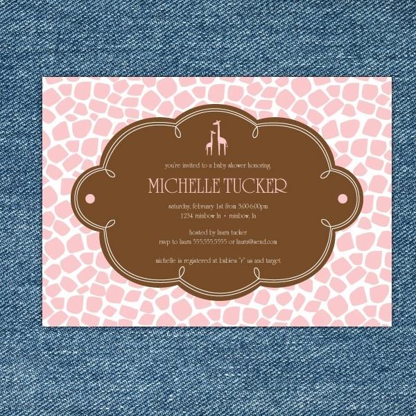Girl Baby Shower Invites!: Shower Ideas, Babies, Giraffe Baby Showers, Shower Printable, Printable Invitations, Giraffes Yellow, Giraffes Pink, Brown Baby, Giraffes Baby Shower