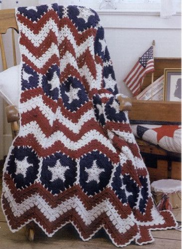 The 117 Best Patriotic Crochet Images On Pinterest Knitted Afghans