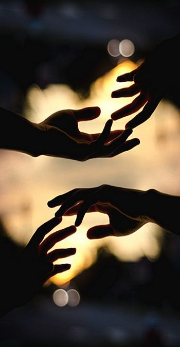 Reach out a hand and help one another.