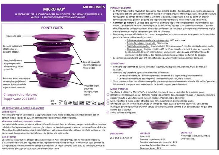 Les 72 meilleures images du tableau fiche technique sur for Micro vap violet tupperware
