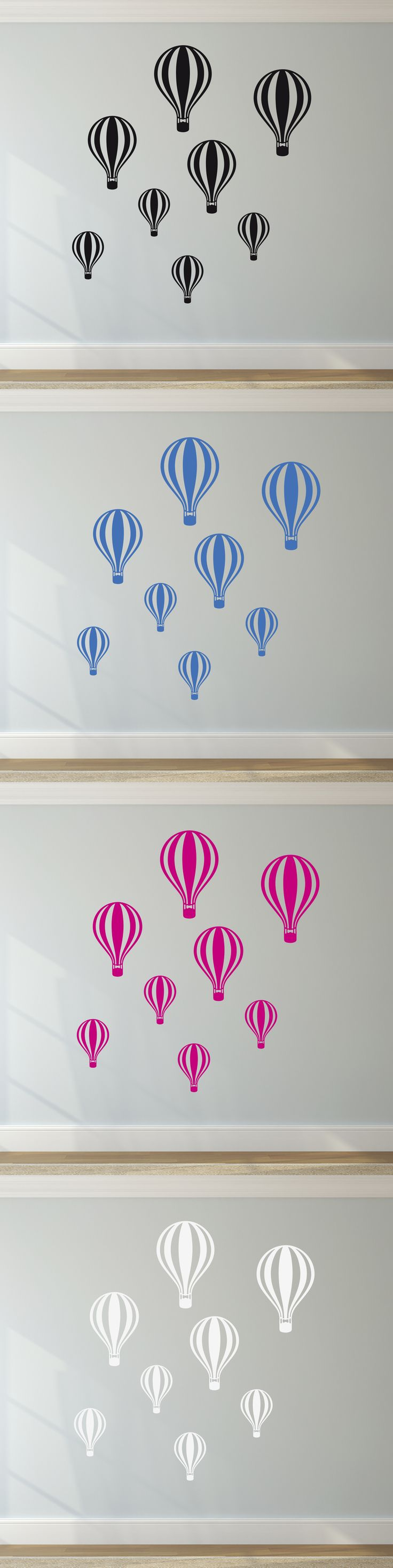 18 best wall stickers images on pinterest colours fish and vinyls set of hot air balloons pattern childrens bedroom decor decal vinyl wall sticker amipublicfo Images