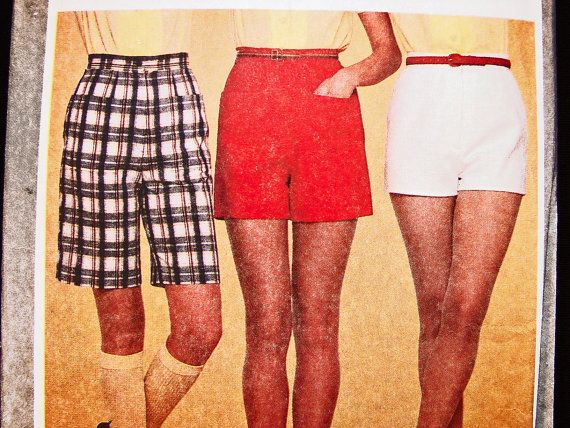 1960s Womens Shorts Pattern Misses size 8 High Waist Shorts, Short Shorts, Bermuda Shorts Womens Vintage Sewing Pattern by PatternsFromThePast