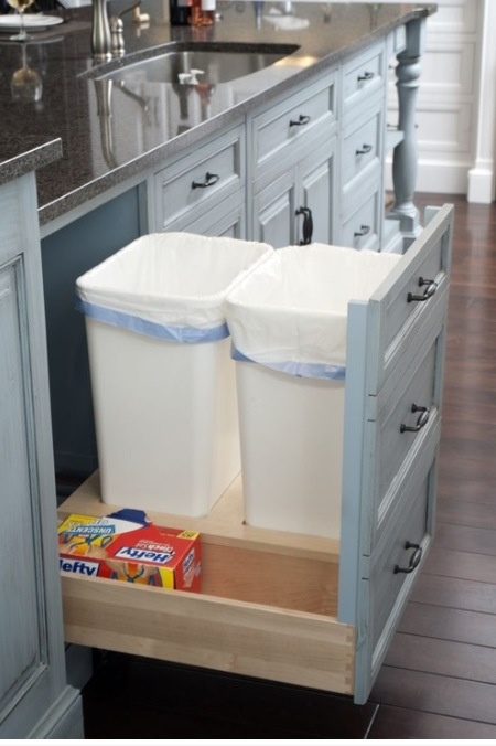 hide your trash can Even better if the counter has a hole