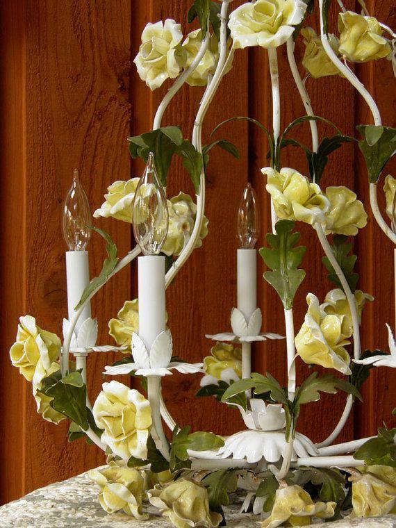 Congratulate, excellent vintage chandolier hanging porcelain roses