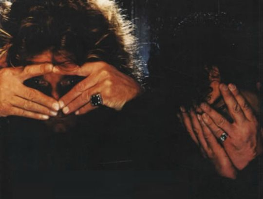 Being silly...Robert Plant and Jimmy Page