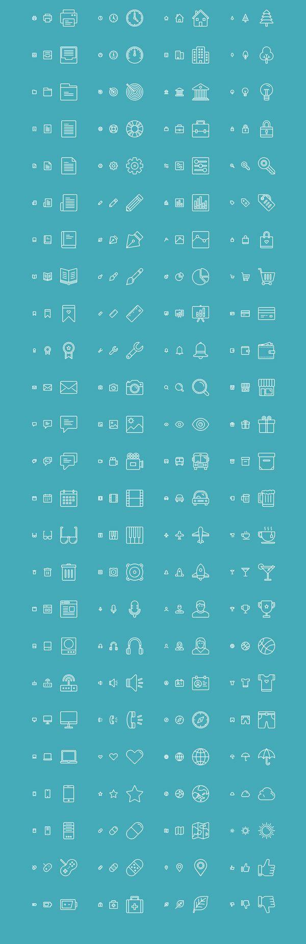 반응형 라인 아이콘 세트 무료 다운로드 :: 디자인 로그(DESIGN LOG)