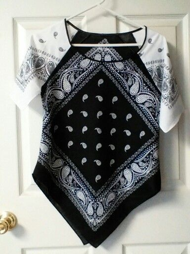 My first bandana shirt, pattern based on raglan sleeved t-shirt.