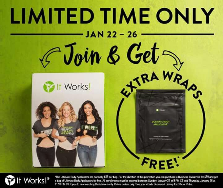 FREAKING OUT!!!! OMG!!!!! 😍😍 JUST announced BOGO kits!!!!! That means you get started and you'll get not 1 but 2 boxes of wraps in your kit! That's 8 wraps!!! Oh my gosh I'm so excited!!!
