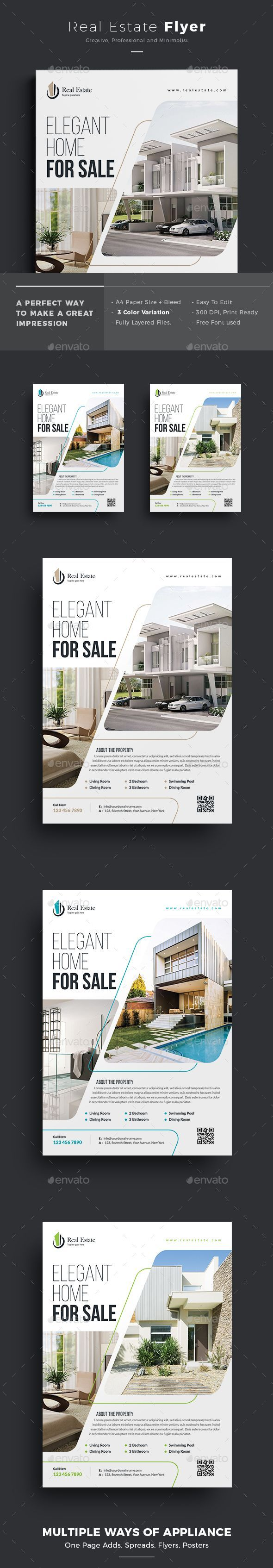 nice Real Estate Flyer — Photoshop PSD #advertisement #sell • Available here → ...