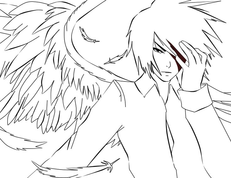 anime angels coloring page