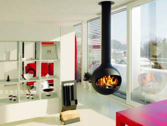suspended wood burner - Google Search