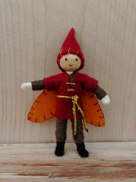 Miniature elf boy Autumn fairy doll Waldorf Inspired Wildflower Innocence