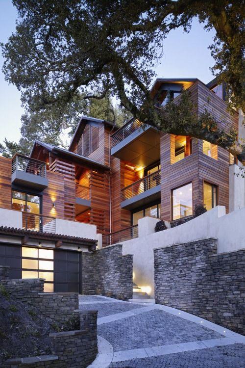 Kühlen Häusern, Außen Haus, Exterieur Design, Architektur Design,  Haus Design, Modernes Ferienhaus, Hausboote, Blockhütten, Stadt