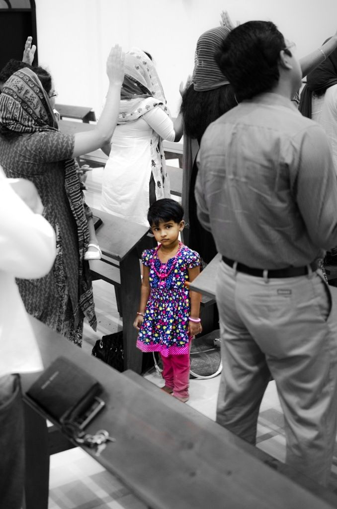 When religion and children meet, religion tends to become the follower. From yesterday's encounter with the #indian #evangelical community at the #saint #luke church complex in #ras #al #khaymah. #uae #emirates #photography #children #truth #church #chapel #gospel #pastor #b&w #color #religion