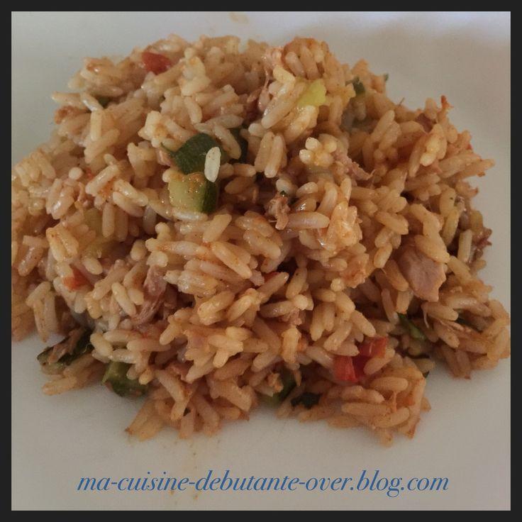 Poêlée riz au thon et paprika au Cookéo