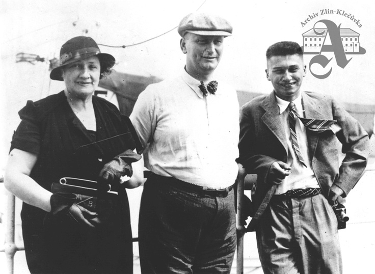 Marie Baťa, Jan A. Baťa and Thomas Baťa Jr