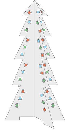 En la época navideña una opción para hacer los adornos y decorar el árbol es hacerlos nosotros mismos, crear una decoración alternativa y construir, por ejemplo, un pino de Navidad en madera. Una estructura que se ensamble, que ocupe poco espacio para guardarlo y que dure muchos años.