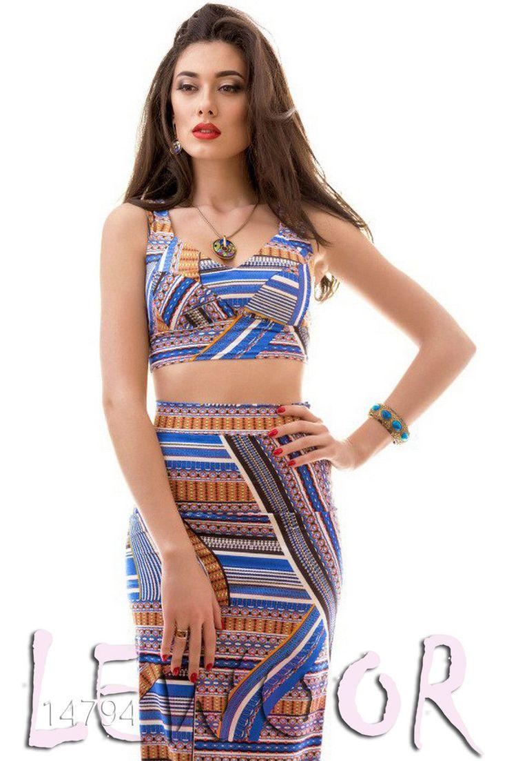 Костюм для лета (юбка с топом) - купить оптом и в розницу, интернет-магазин женской одежды lewoor.com
