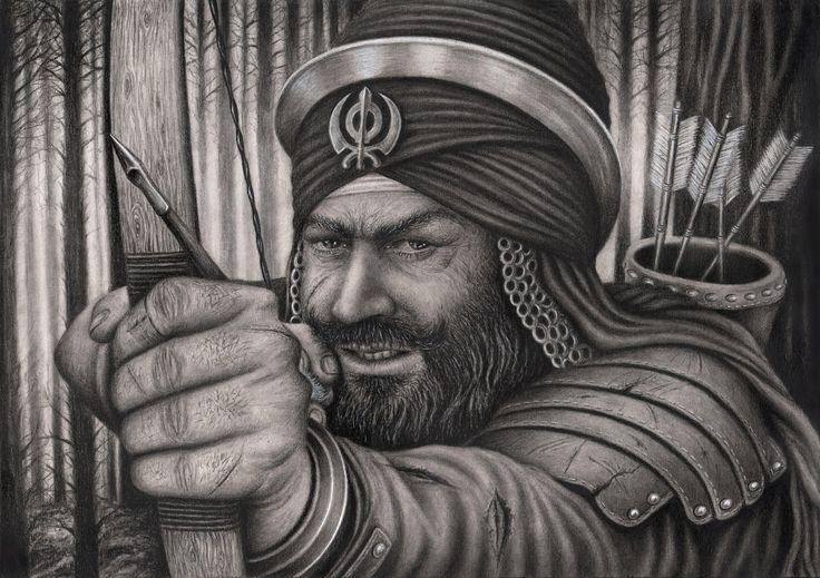 sikh warrior sketch - Google Search | Sikhism & punjabi ...