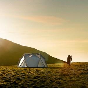 Aufblasbares Zelt für 2-3 Personen. In fünf Minuten aufgebaut.