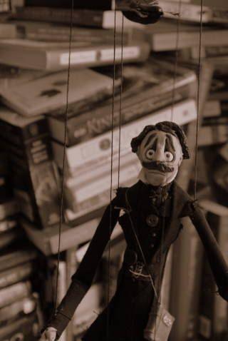 Meet Edgar Allan Poe the character puppet.
