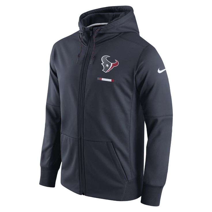 Nike Therma (NFL Texans) Men's Hoodie Size Medium (Blue)