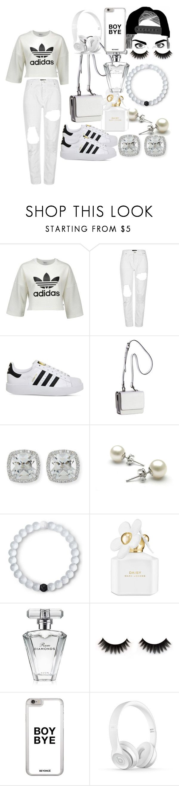 """Black&White (adida style)"" by kch-world ❤ liked on Polyvore featuring adidas, Kendall + Kylie, Frederic Sage, Lokai, Marc Jacobs and Avon"