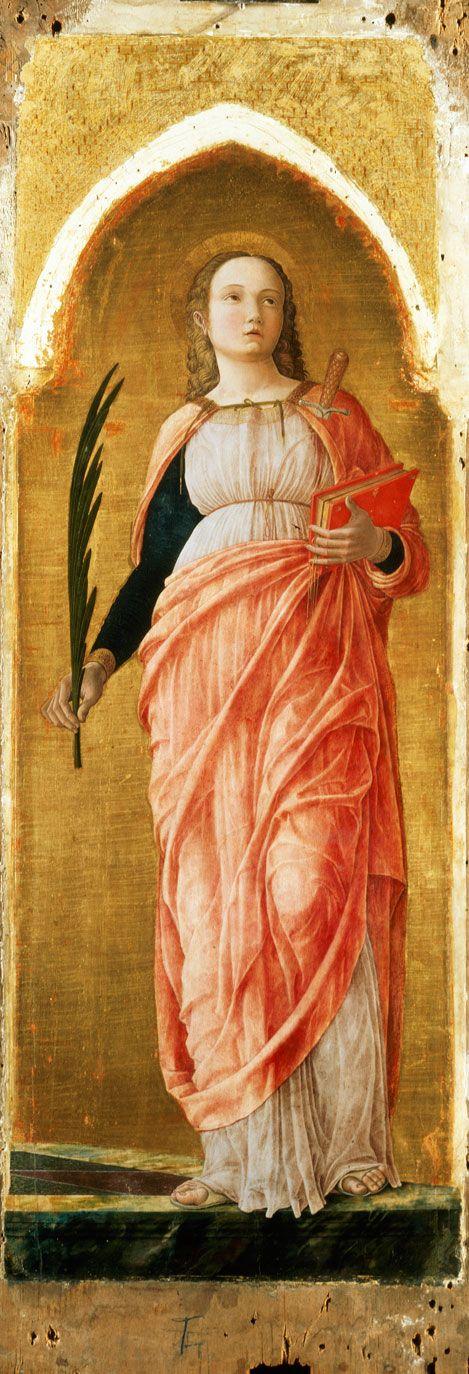Andrea Mantegna - St Justina  1453-1455
