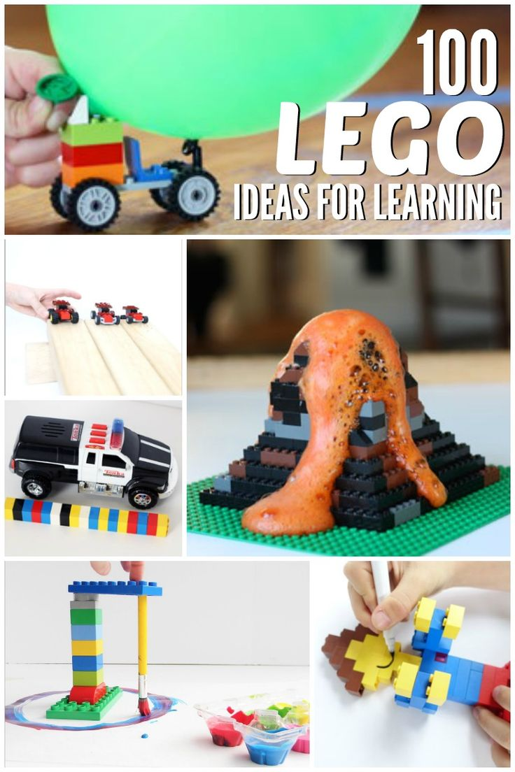100 Lego Learning Ideas :: things to do with lego :: lego activities for science :: teach math with lego :: fun lego projects for kids