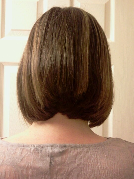 Angled Bob Back View With Layers Hair Cuts By Me